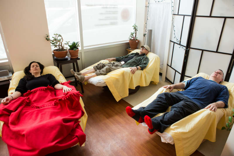 Three patients napping
